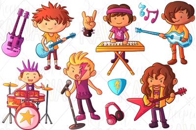 Rock Star Boys Clip Art