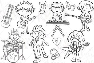 Rock Star Boys Digital Stamps