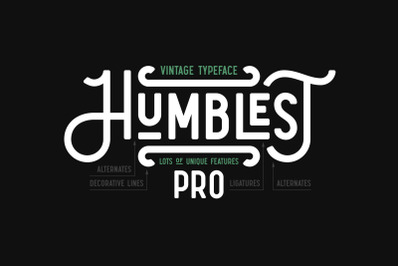 Humblest Pro Font
