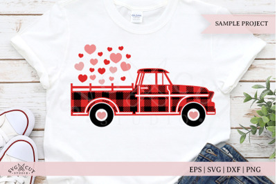Plaid Valentine Truck SVG Files