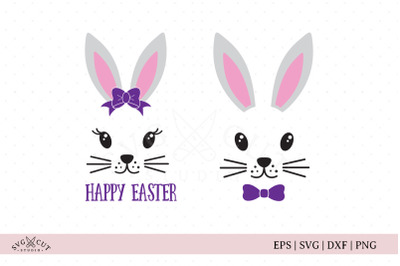 Easter Bunny Face SVG Cut Files