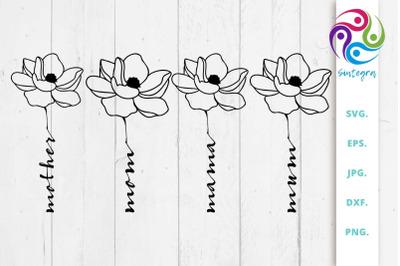 Floral Mother SVG File