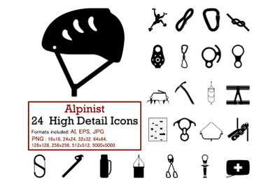 Alpinist Icon Set