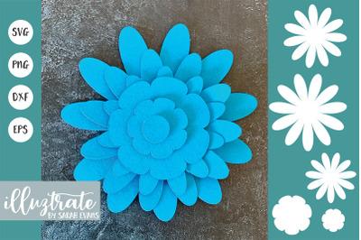 3D Flower Template SVG | DIY Flower SVG | Paper Flower SVG