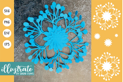 Paper Flower Template | Flowers for Paper craft | Flower SVG