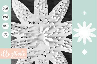 Flower Tempalte SVG | 3D Flower SVG | Layered Flower SVG | Flower SVG