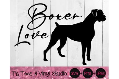 Boxer Svg, Love Svg, Dog Love Svg, Boxer Love Svg, Dog Svg, Boxer Png,