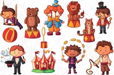Circus Boys Clip Art