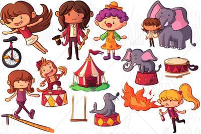 Circus Girls Clip Art