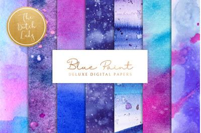 Blue Watercolor Paint Backgrounds