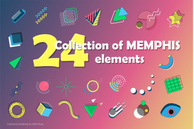 Collection of MEMPHIS elements.
