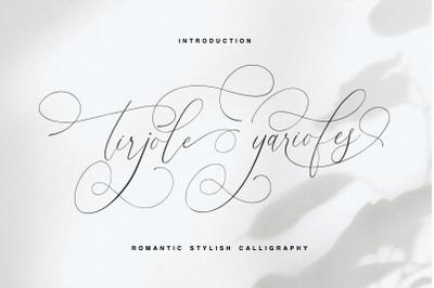 tirjole yariofes - romantic stylish calligraphy