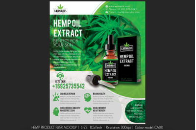 Hemp Product Flyer Mockup