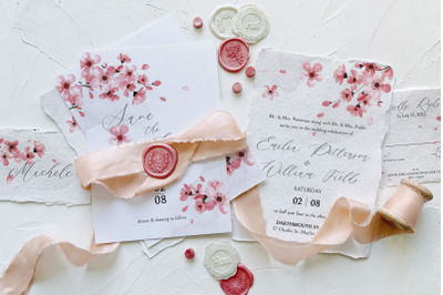 Pink Cherry Blossom Wedding Suite