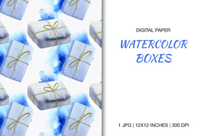 Digital Paper with Gift Boxes