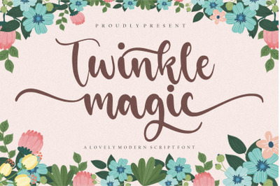 Twinkle Magic Lovely Modern Script Font