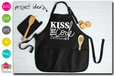 Kiss the Cook or do the Dishes Kitchen SVG file