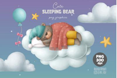 Cute sleeping bear