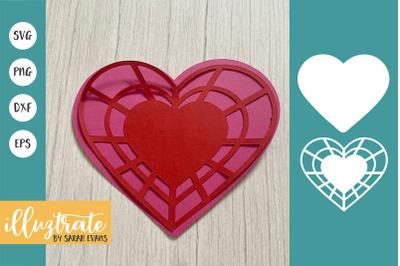 Heart SVG Cut File | 3D Heart | Layered Heart SVG | Valentines SVG