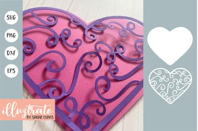 Layered Heart SVG   Heart SVG Cut File   3D Heart SVG