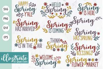 Spring SVG Bundle   Spring SVG Cut File   Spring SVG   Spring DXF