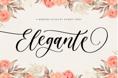 Elegante Modern Elegant Font