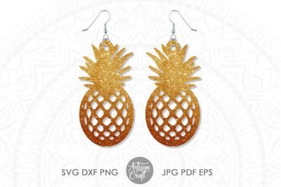 Pineapple Earrings SVG, Laser cut file