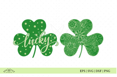 St Patricks Lucky Clover SVG cut files