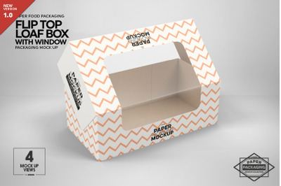 Flip Top Loaf Box Packaging Mockup