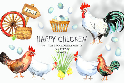 Happy Chicken Clipart
