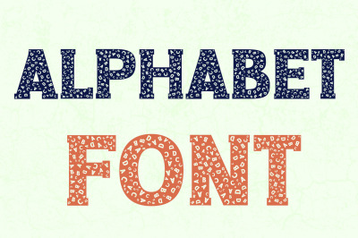 Alphabet and Letters Font