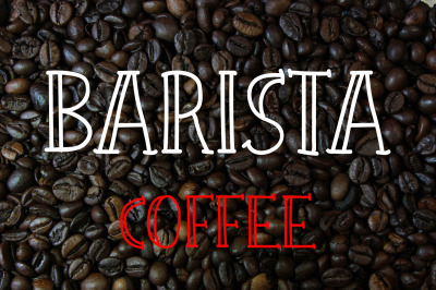 Barista Urban Coffee Font