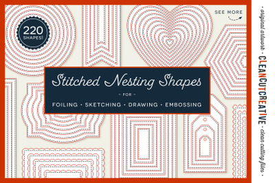 Stitched Nesting Shapes SVG| card making sketch foil quill emboss