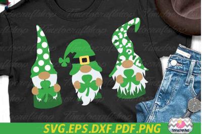 St Patricks Day SVG, Saint Patricks Gnomies, Gnome SVG, Shamrock SVG
