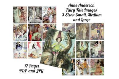 Anne Anderson Vintage Fairy Tale Images, Digital Art