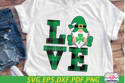 St Patricks Day SVG, Saint Patricks Gnomies, Gnome Love SVG,Shamrock S