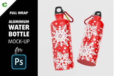 Aluminium Water Bottle Mock-Up