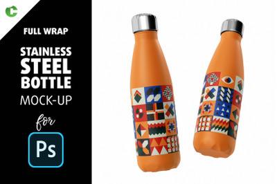 Stainless Steel Bottle Mock-Up