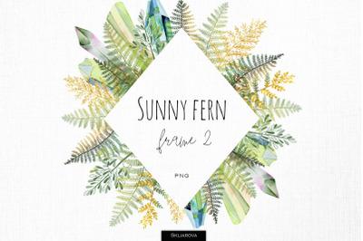 Sunny fern frame #2