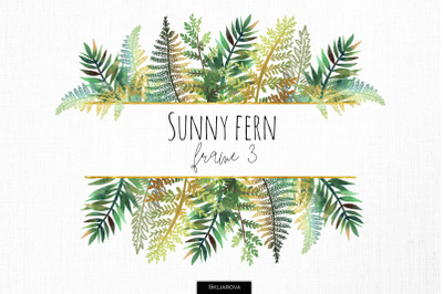 Sunny fern frame #3