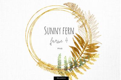 Sunny fern frame #4