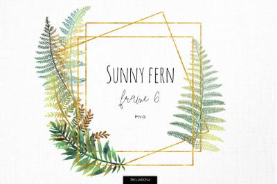 Sunny fern frame #6