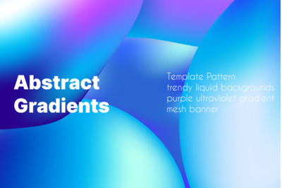 Template Pattern trendy liquid backgrounds