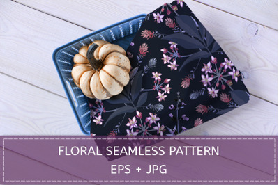 Floral pattern with allium.