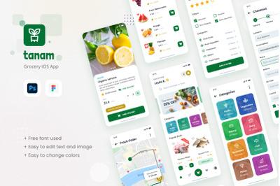 Tanam - Grocery iOS App Design Figma