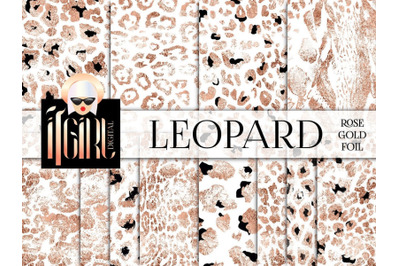 Rose Gold Leopard Pattern