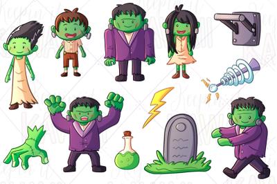 Monster Family Digital Stamps