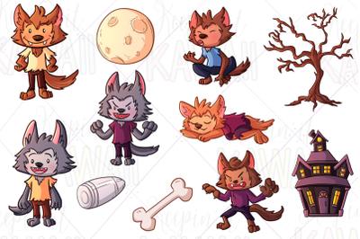 Werewolf Boys Clip Art