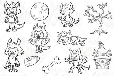 Werewolf Boys Digital Stamps