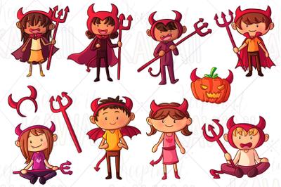 Little Devils Clip Art